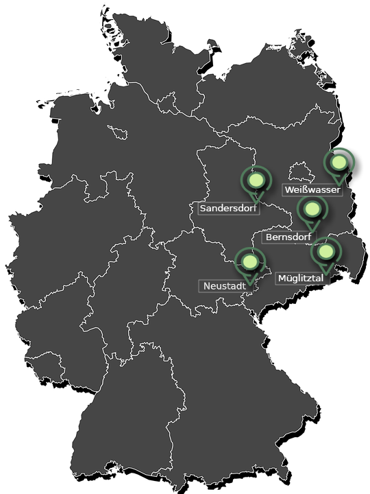 deutschland karte Campmoment.Rent partner